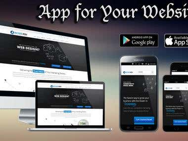 Developing mobile apps for your websites