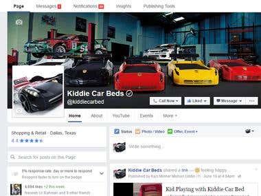 Kiddie Car Beds Facebook Promotion