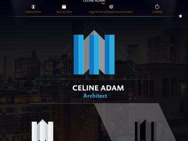 "Logo Design : Celiene Adam ""Architect"""