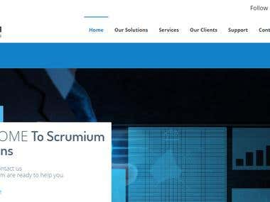 Scrumium website for It