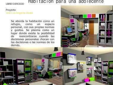 Interior design. Furniture design
