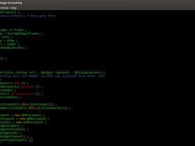 some Qt code