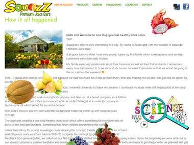 Australian Juicebar Website