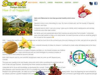 Australian Juicebar Website
