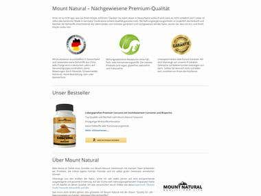 mountnatural.de - Website Design and Development