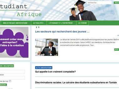 Site web de Etudiant Afrique