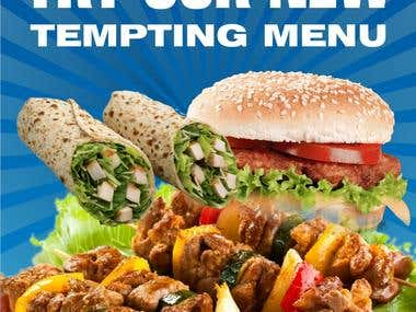 Menu and Restaurant ads designs