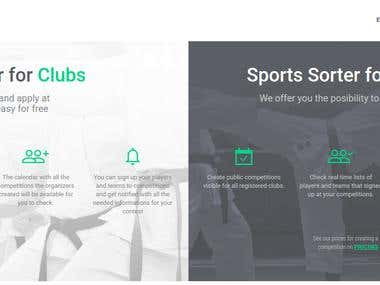 Advanced manager for sport competitions - SportsSorter