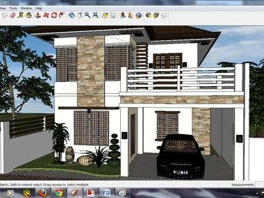 Design 2 storey Residential House and Commercial Building