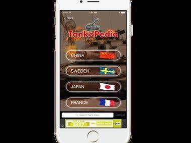 Tank Info : iPhone  + Andoid +  API + CMS