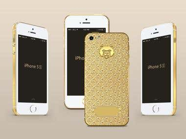 Design gold iphone 5S