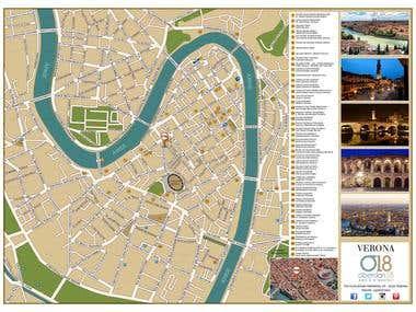 Verona tourist map