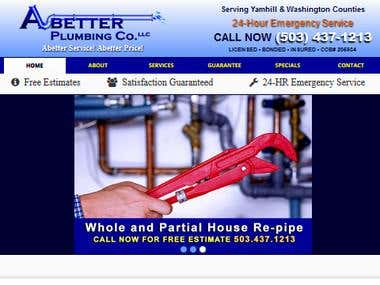 Website and Graphic Design - Abetter Plumbing Co.
