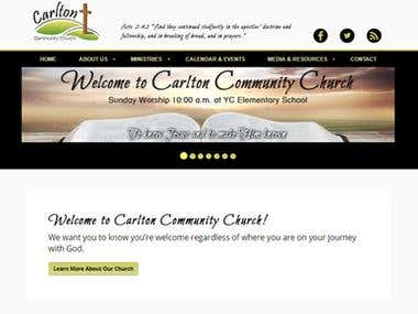 Website Design - Carlton Community Church