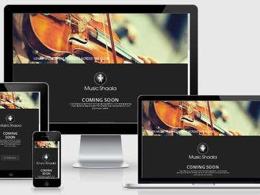 Live Music Classes marketplace website with internal msg