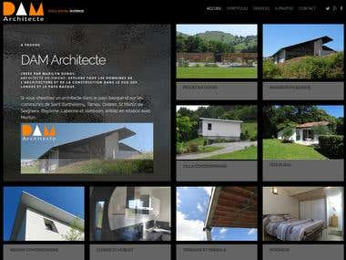 Site institution Architecte