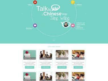 Online courses website design