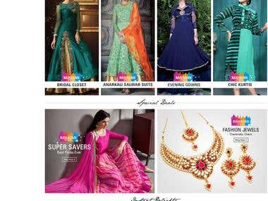 SareesBazaar - eCommerce Website Design and Development