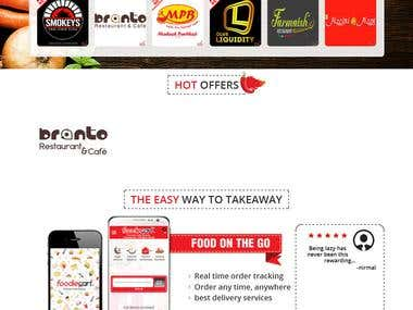 FoodieCart- Food Delivery Website,App Design and Development