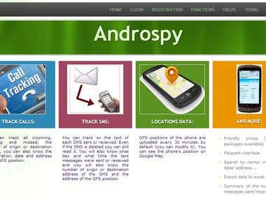 Android apps support website and web application