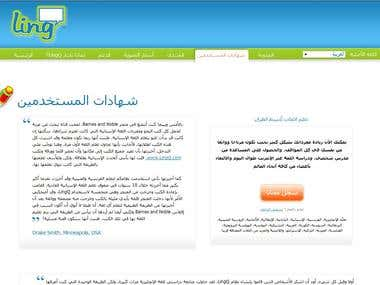 Website translation using online tool