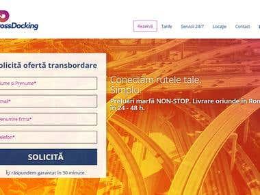 Wordpress website for a transportation company: CrossDocking