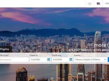 Hotel booking service website translation