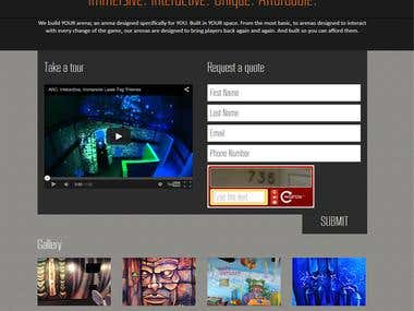 Laser Tag Arena (Responsive) with Sales Proposal / Contract
