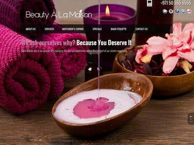 Balm Mobile Spa Wordpress Website