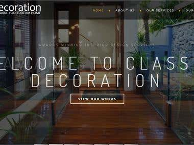 Classic decorations - SEO project