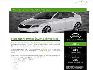 SKODA Shop web design