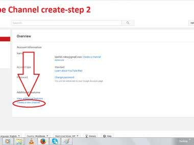 You Tube channel create demo