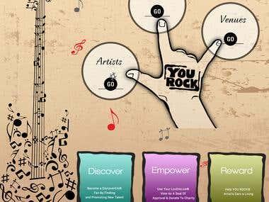 Musician website development
