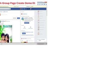 Facebook Group page create demo 1-2