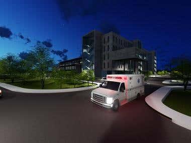 Ambulance & Hospital Night