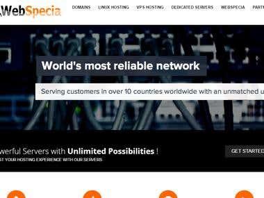 Wordpress website with WHMCS setup & Customisation