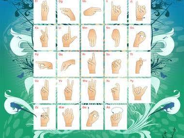 Poster -- Danish Hand Alphabet