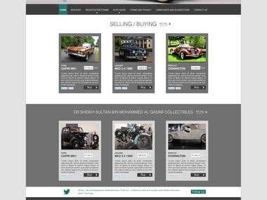Sharjah Old Cars Club Website