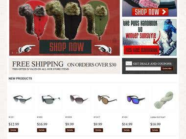 Online store for high end sun glasses / apparel in uCommerce