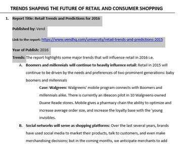 TRENDS SHAPING THE FUTURE OF RETAIL AND CONSUMER SHOPPING