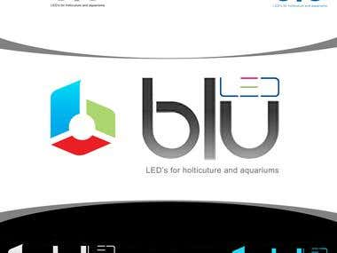 Blu LED Logo