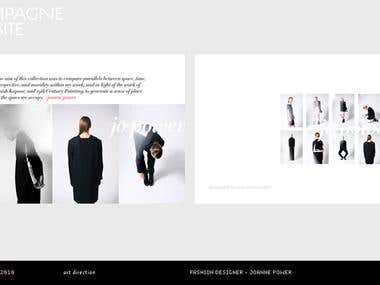 Branding and Web Design for a fashion designer