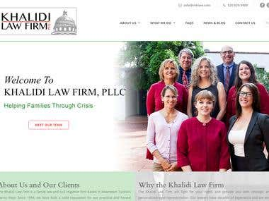 Customized WordPress website for Khalidi Law Firm, PLLC