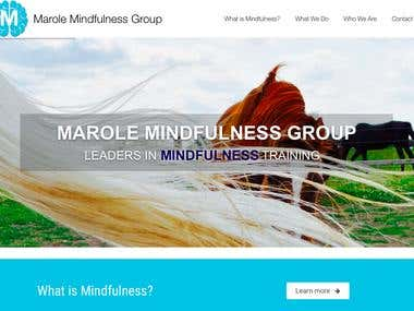 Customized WordPress website for Marole Mindfulness Group