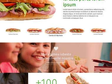 A online Fast Food Product Site