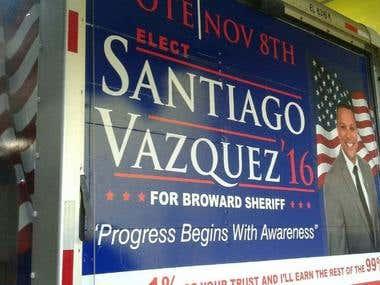 Santiago Vazquez Campaign Design