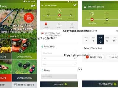 Lawn Mowing services app