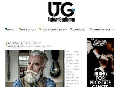 Articles for men's fashion and lifestyle website