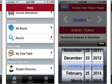 Education ERP's Tablet/Mobile Interface