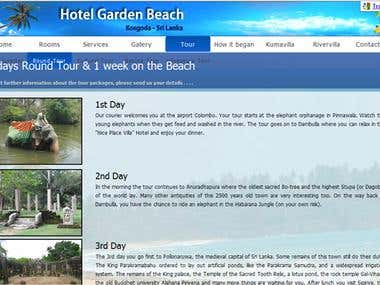 Hotel Garden Beach Official Website- www.hotelgardenbeach.lk